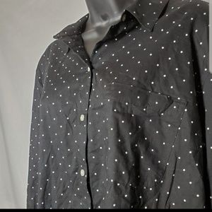 NWT Polka Dot Button Down Shirt Size XXL